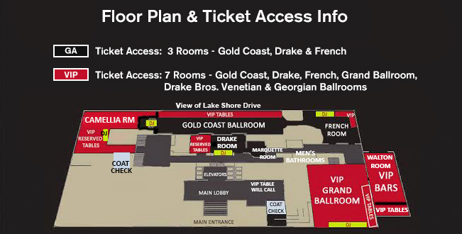 Drake Hotel New Year Eve 2016 Floor Plan