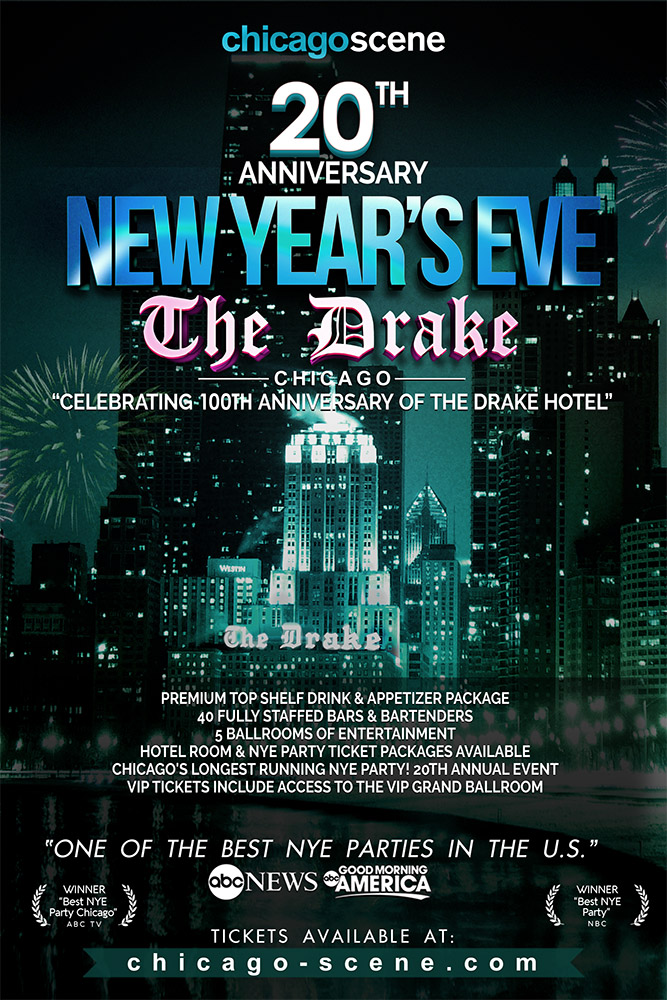 Chicago Scene New Years Eve Party at the Drake 2020